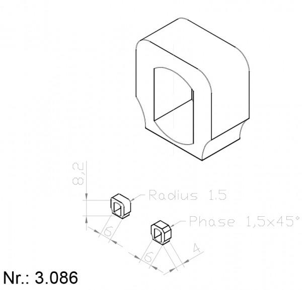 Alphabelt® 3086 PU Nocken / Mitnehmer für Zahnriemen