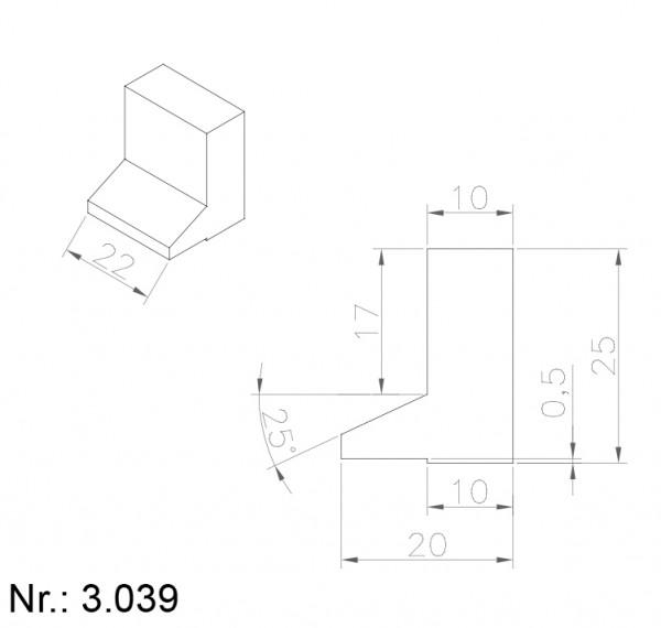 Alphabelt® 3039 PU Nocken / Mitnehmer für Zahnriemen