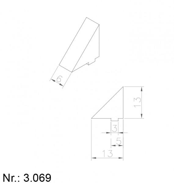 Alphabelt® 3068 PU Nocken / Mitnehmer für Zahnriemen