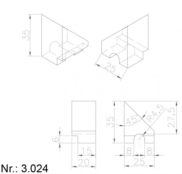 3024 PU Nocken