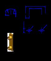 32AT10 Messing Nockenverbinder / Einlegeschiene / Ersatzzahn