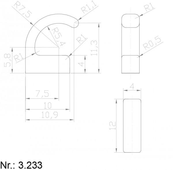 Alphabelt® 3233 PU Nocken / Mitnehmer für Zahnriemen