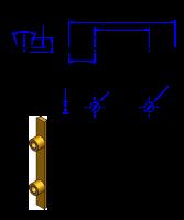H200 Messing Nockenverbinder / Einlegeschiene / Ersatzzahn