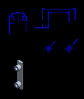 32AT10 Edelstahl Nockenverbinder / Einlegeschiene / Ersatzzahn