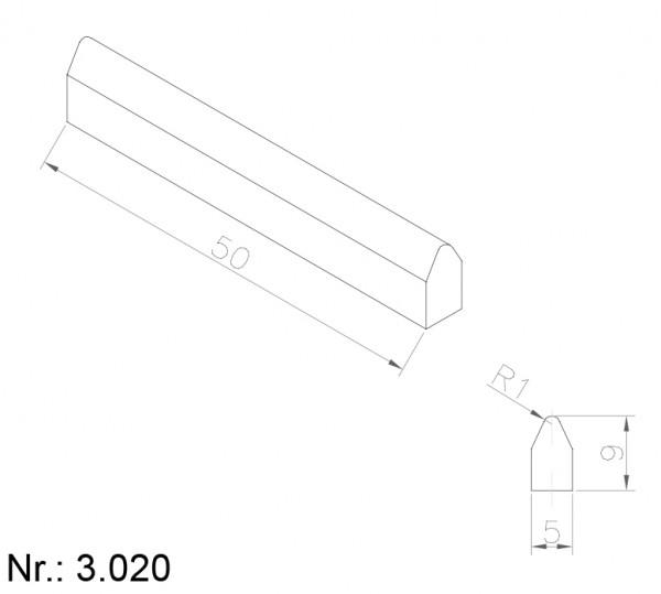 Alphabelt® 3020 PU Nocken / Mitnehmer für Zahnriemen