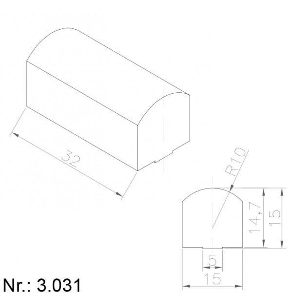 Alphabelt® 3031 PU Nocken / Mitnehmer für Zahnriemen