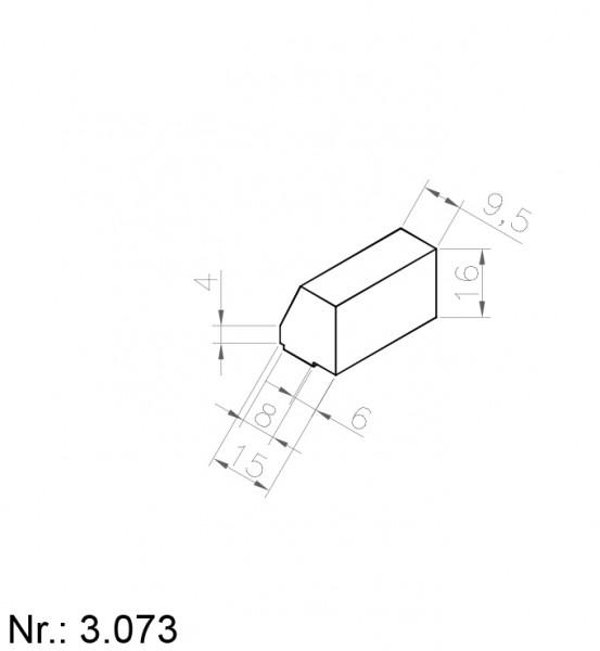Alphabelt® 3073 PU Nocken / Mitnehmer für Zahnriemen