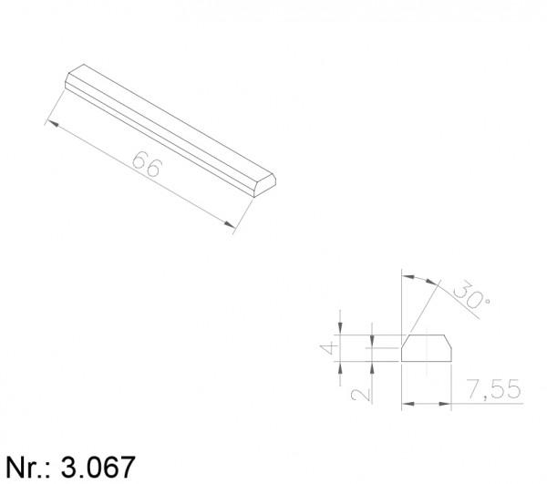 Alphabelt® 3067 PU Nocken / Mitnehmer für Zahnriemen