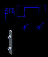 50AT10 Edelstahl Nockenverbinder / Einlegeschiene / Ersatzzahn
