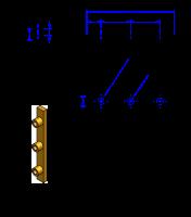 75AT20 Messing Nockenverbinder / Einlegeschiene / Ersatzzahn