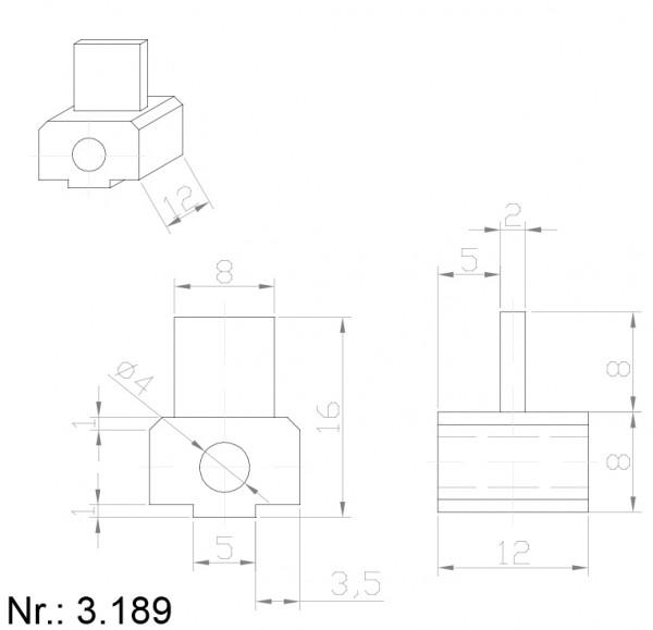 Alphabelt® 3189 PU Nocken / Mitnehmer für Zahnriemen