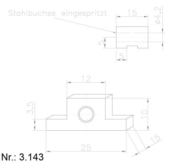 Alphabelt® 3143 PU Nocken / Mitnehmer für Zahnriemen