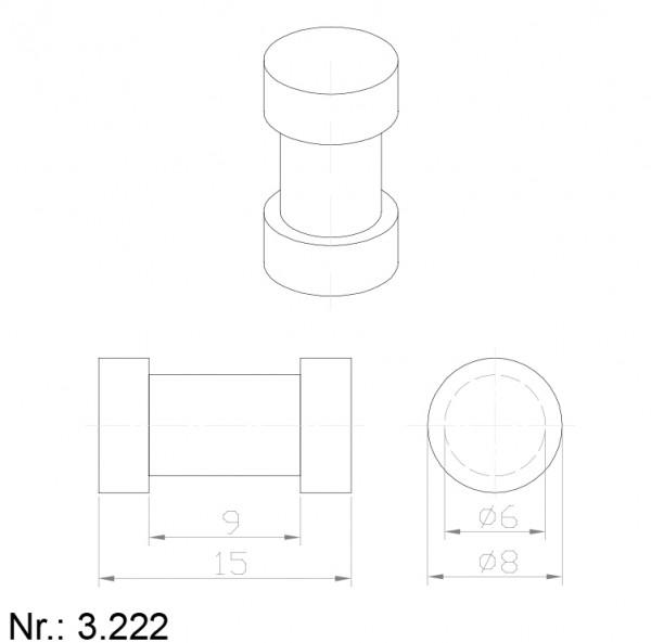Alphabelt® 3222 PU Nocken / Mitnehmer für Zahnriemen