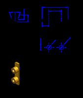 H100 Messing Nockenverbinder / Einlegeschiene / Ersatzzahn