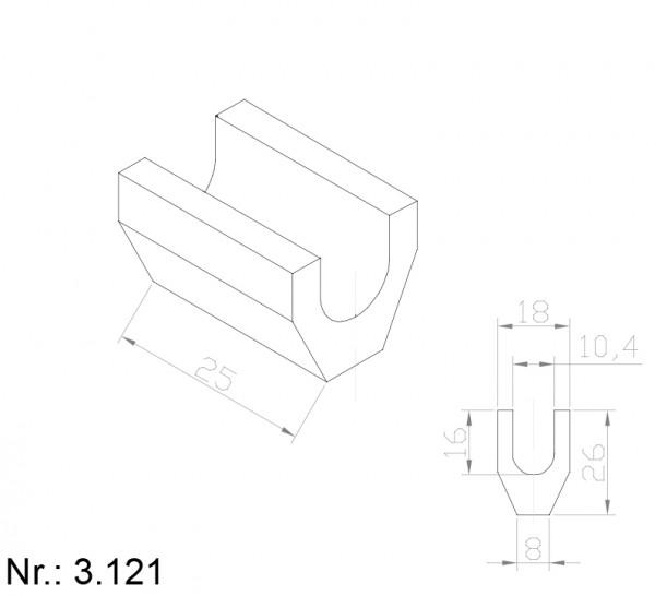 Alphabelt® 3121 PU Nocken / Mitnehmer für Zahnriemen