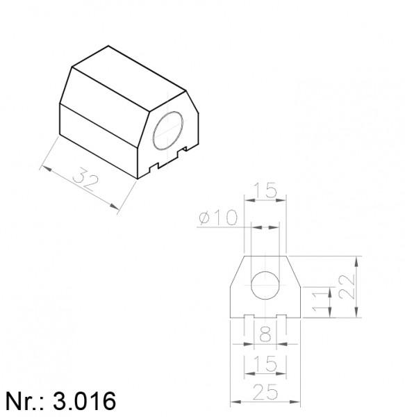 Alphabelt® 3016 PU Nocken / Mitnehmer für Zahnriemen