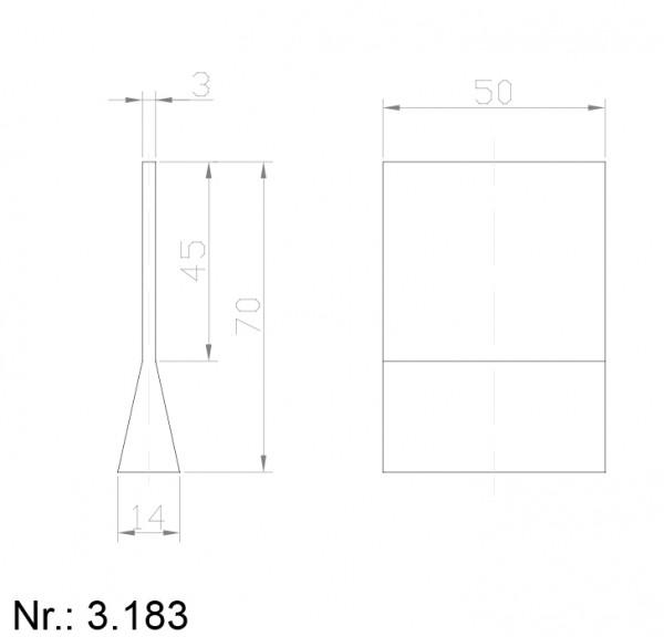 Alphabelt® 3183 PU Nocken / Mitnehmer für Zahnriemen