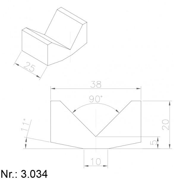 Alphabelt® 3034 PU Nocken / Mitnehmer für Zahnriemen