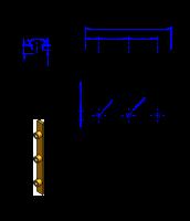 75AT10 Messing Nockenverbinder / Einlegeschiene / Ersatzzahn