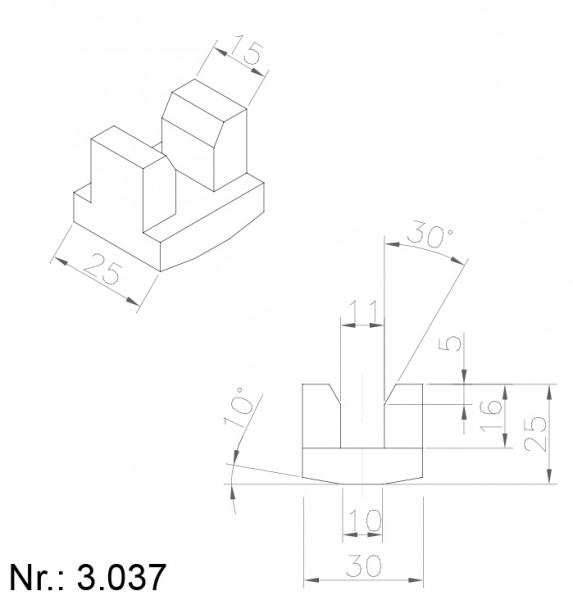 Alphabelt® 3037 PU Nocken / Mitnehmer für Zahnriemen