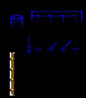 100AT10 Messing Nockenverbinder / Einlegeschiene / Ersatzzahn