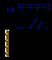100AT20 Messing Nockenverbinder / Einlegeschiene / Ersatzzahn