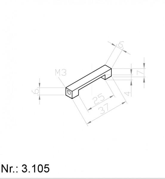 Alphabelt® 3105 PU Nocken / Mitnehmer für Zahnriemen